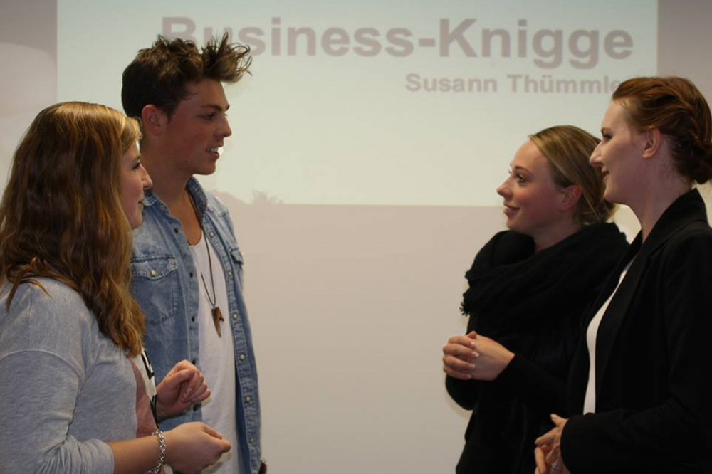 Business Knigge Workshop am Campus M21