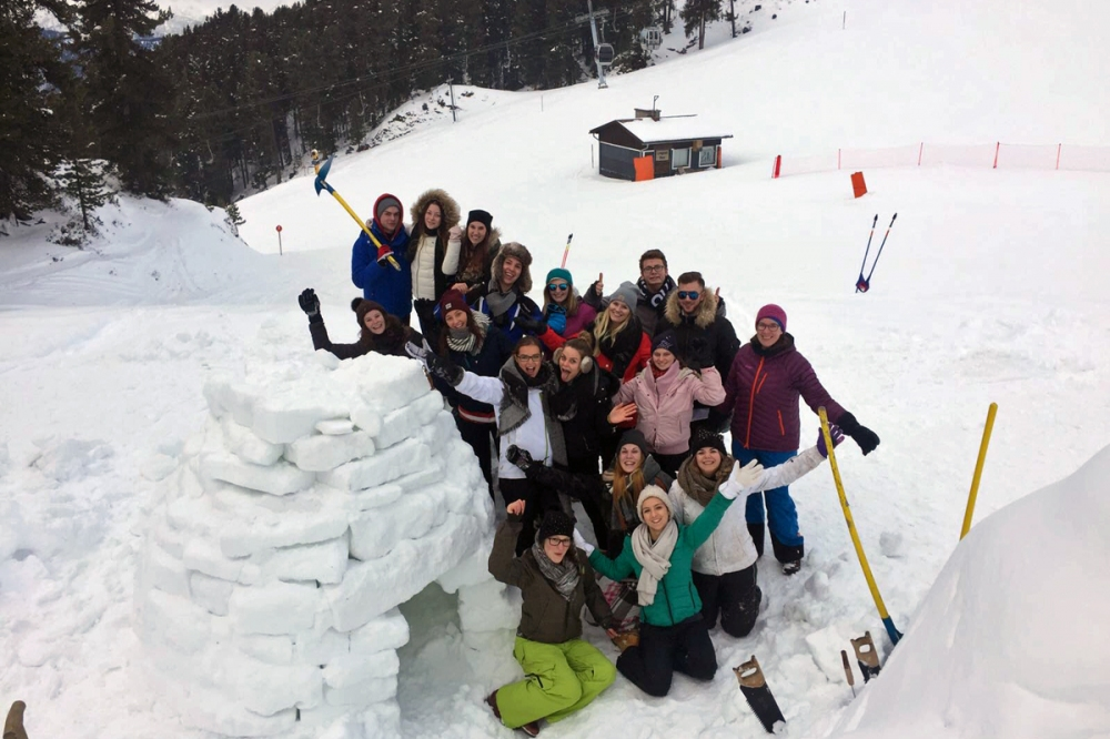 Tourismusmanagement-Studium: Iglu-Workshop im Ötztal