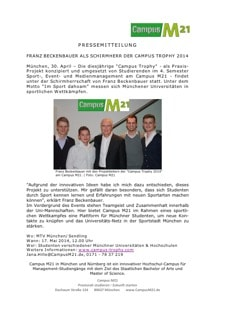 Sportmanagement Studium Presse